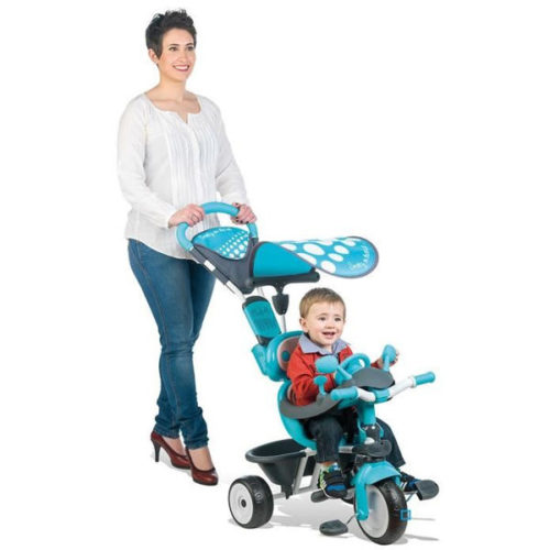 triciclo baby driver confort azul smoby