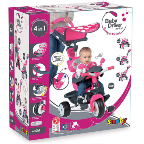 triciclo smoby baby confort rosa