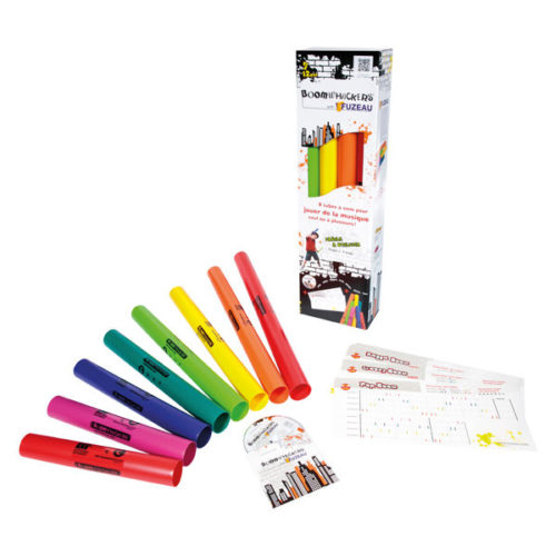 pach boomwhackers 8 tubos + 15 fi chas + 1 CD
