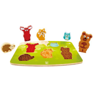 Puzzle tactil animales bosque