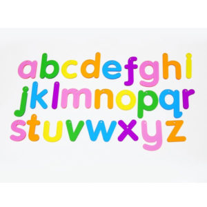 Set Letras del alfabeto multicolor