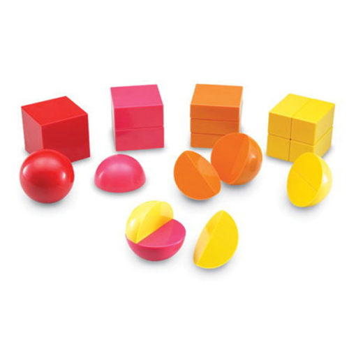 Magnetic 3-D Rainbow Fraction® Shapes Learning Resources