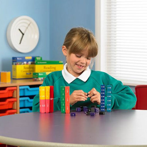 Fraction Tower® Cubes - Equivalency Set 51 Piece Set Learning Resources