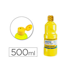 Tempera liquida giotto escolar lavable 500 ml.