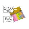 Bloc de notas adhesivas post-it 15 x 50 mm colores surtidos