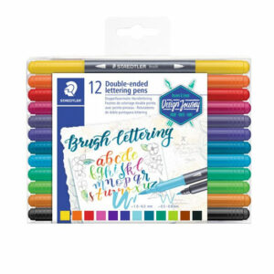 Rotulador Brush Letter 12 colores