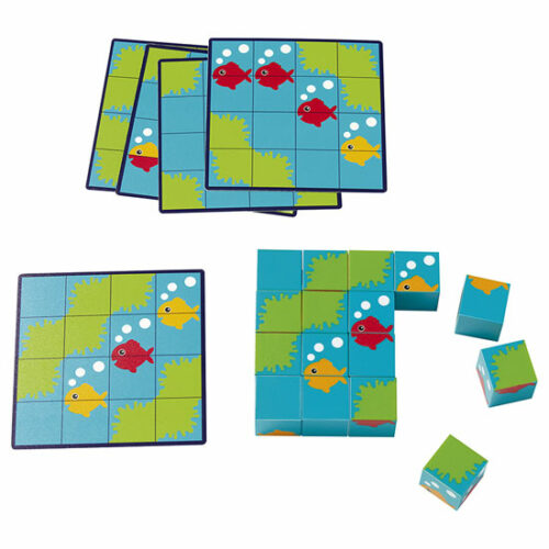 Nathan Puzzle Cubos Peces